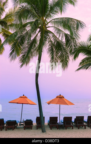 Sunrise at the Gulf of Thailand near Hua Hin Beach. - Stock Photo