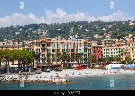 Santa Margherita- beautiful seaport in Italy - Stock Photo