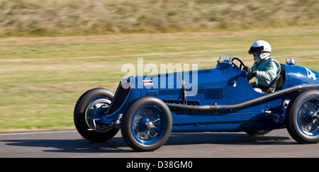 1934 Maserati 8CM with driver Robert Newall during the Goodwood Trophy race at the 2012 Goodwood Revival, Sussex, - Stock Photo