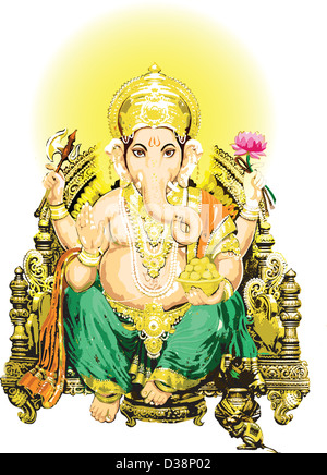 Hindu god Ganesha - Stock Photo