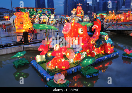 The River Hongbao at The Float at Manira Bay is also one of the highlights of the Chinese New Year festivities in - Stock Photo