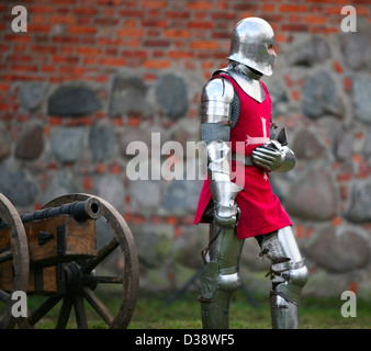The medieval knight. Show in Kaunas - Stock Photo
