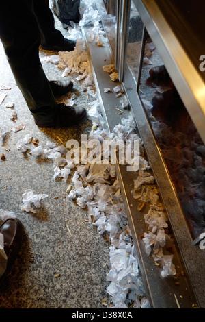 casa revuelta madrid spain bar mess napkin floor - Stock Photo