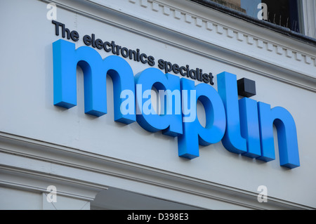 Maplin electronics gadgets and computing store in Glasgow, Scotland, UK - Stock Photo