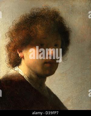 Rembrandt Van Rijn Self Portrait 1629 Self portrait at an ea...