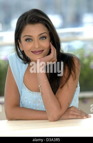 (dpa) - Aishwarya Rai, Indian model and up-and-coming star in the Bollywood film industry in India, pictured during - Stock Photo