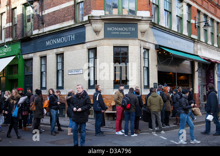 Monmouth Coffee Company, Borough Market in Park Street in London, UK Stock Photo ...