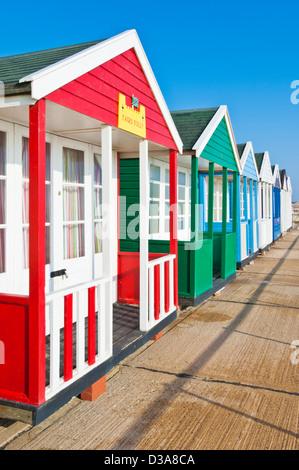 southwold beach huts suffolk east anglia england gb uk eu europe - Stock Photo