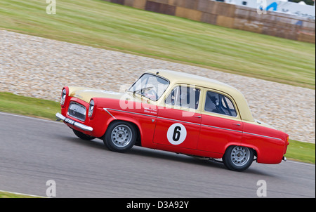 1959 Ford Prefect 107E with driver Henry Mann in the St Mary's Trophy race at the 2012 Goodwood Revival, Sussex, - Stock Photo