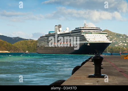 A Cruise Ship In Port At Charlotte Amalie St Thomas US