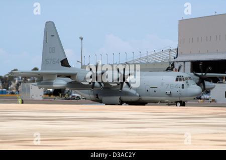 US Marines C-130 Hercules at the Marine Corps Air Station Miramar, California