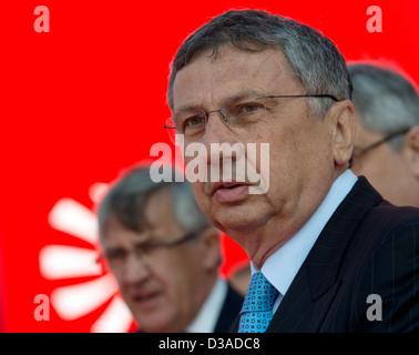 Giuseppe Orsi, chief executive of Italian aerospace and defence firm Finmeccanica - Stock Photo