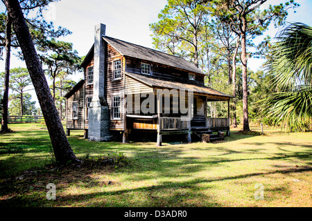 Oldest settlers Farm house in Sarasota County Florida - Stock Photo