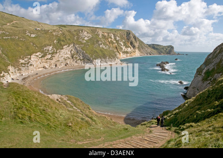St Oswald's Bay on the Dorset coast, looking east towards Dungy Head - Stock Photo