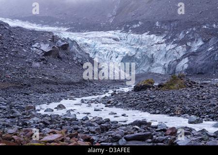 Fox Glacier South Island New Zealand travel - Stock Photo