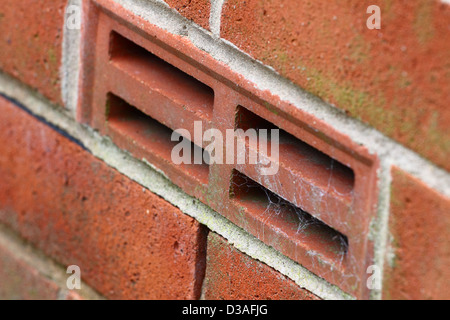 Airbrick in side of house - Stock Photo