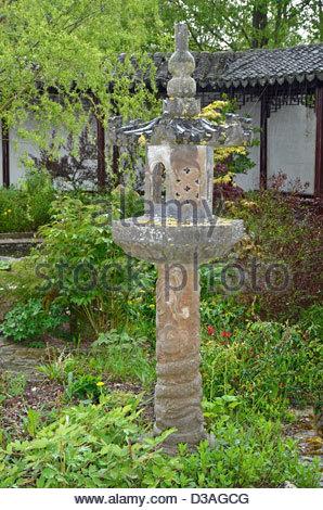 Chinese garden of Yili, Saint-Rémy-Honoré, 78, Yvelines, île-de-France, France - Stock Photo