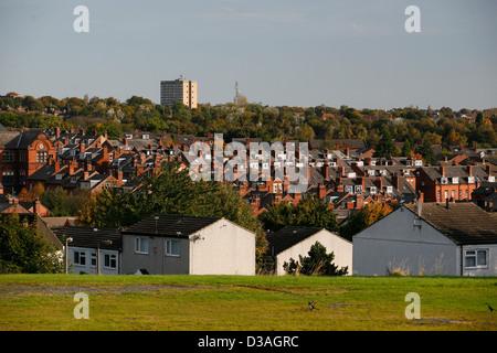 Woodhouse Moor  , Leeds looking over housing near the University - Stock Photo
