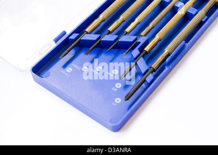 Screw driver set over isolate on white background - Stock Photo