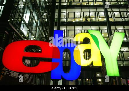 (dpa) - The logo of the online auction service 'ebay Deutschland', pictured at the company's German headquarters - Stock Photo