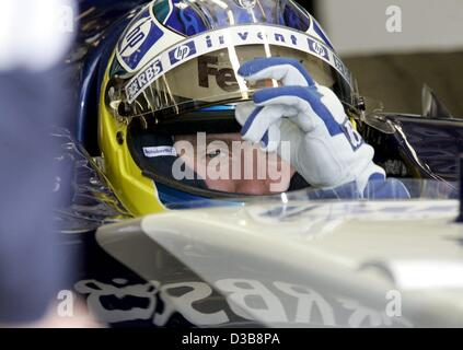 (dpa) - The picture shows German Formula One driver Nick Heidfeld of BMW-Williams during the second practice session - Stock Photo