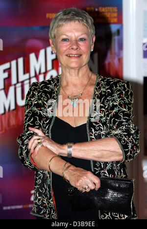 (dpa) - The British actress Judi Dench is pictured during a gala screening of her movie 'Ladies in Lavender' in - Stock Photo