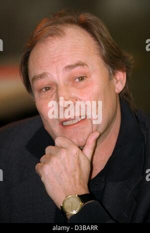 (dpa files) - Austrian actor Klaus Maria Brandauer, pictured during a press conference in Berlin, Germany, 8 January - Stock Photo