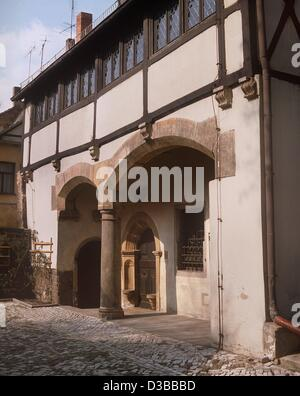 (dpa files) - The birthplace of the German reformer Martin Luther  (1483-1546) in the Luther Street 16 in Eisleben, - Stock Photo