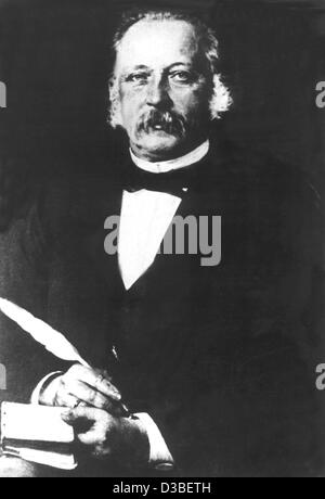 (dpa) - German author Theodor Fontane (undated filer). He was born in Neuruppin on 30 December 1819 and died in - Stock Photo