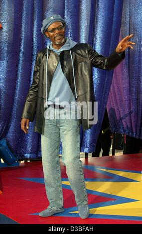 (dpa files) - US actor Samuel L. Jackson ('Pulp Fiction', 'Jackie Brown') arrives at the MTV Movie Awards in Los Angeles,  31 May 2003.