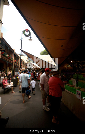 The shopping area in downtown Sydney NSW Australia known as 'The Rocks' - Stock Photo