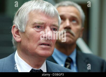 (dpa) - German Interior Minister Otto Schily and President of the Federal Office for the Protection of the Constitution, - Stock Photo
