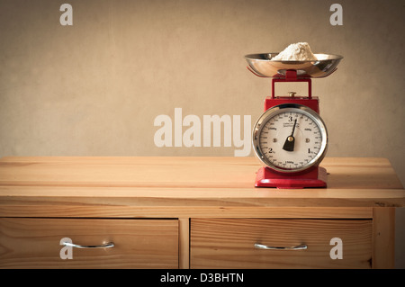Retro kitchen scales - Stock Photo