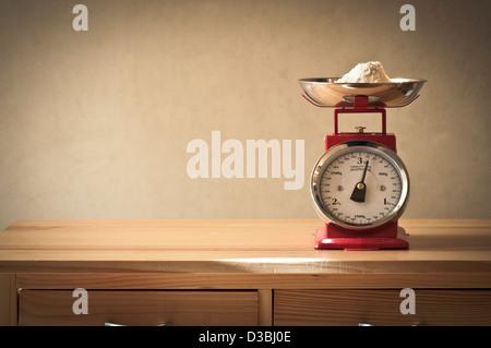 Retro kitchen scales - Stock Photo