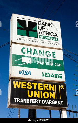 Foreign exchange western union money transfer sign on travel shop stock photo royalty free - Western union bureau de change ...