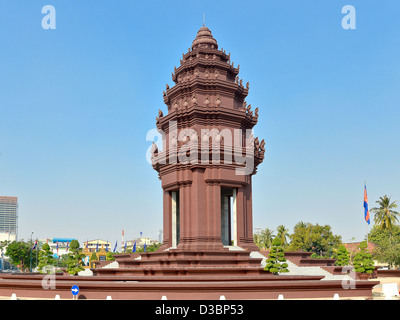Independence Monument - Phnom Penh, Cambodia - Stock Photo