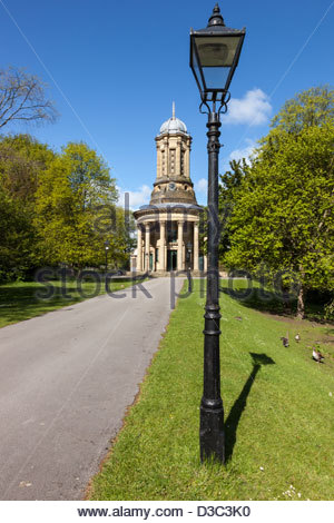 United Reformed Church at Saltaire Shipley West Yorkshire England - Stock Photo