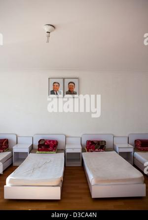 Bedroom In Songdowon International Children's Camp, Wonsan, North Korea, North Korea - Stock Photo