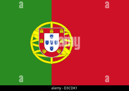 Flag of Portugal. - Stock Photo