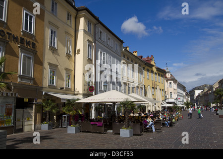 Austria, Carinthia, Klagenfurt Am Worthersee, Alter Platz, Restaurant - Stock Photo