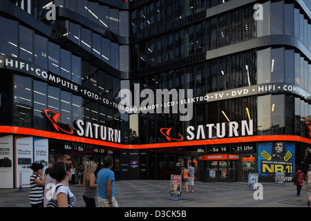 Berlin, Germany, electrical retailers Saturn on Tauentzien - Stock Photo