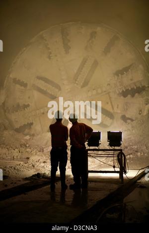 Tunnel boring machine - Stock Photo