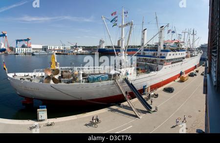 Kiel, Germany, the Cap San Diego at her berth at the Kiel Bollhörnkai - Stock Photo