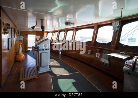 Kiel, Germany, Cap San Diego, the bridge of the ship - Stock Photo