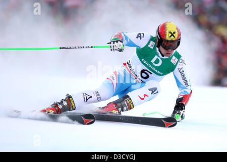 15.02.2013. Schladming, Austria. FIS Alpine Ski World Championships 2013 Giant slalom for men Picture shows Marcel - Stock Photo