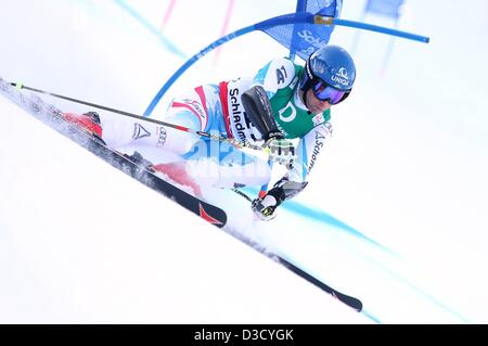 15.02.2013. Schladming, Austria. FIS Alpine Ski World Championships 2013 Giant slalom for men Picture shows Benjamin - Stock Photo