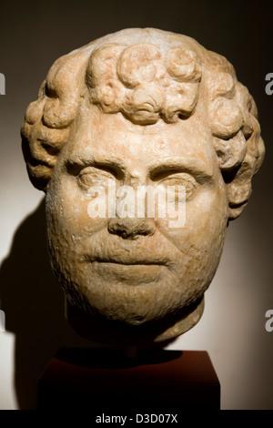 Roman marble sculpture Municipal Museum Palacio de Najera Antequera Malaga Andalusia Spain - Stock Photo