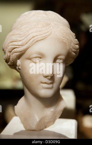 Venus Roman marble sculpture Municipal Museum Palacio de Najera Antequera Malaga Andalusia Spain - Stock Photo