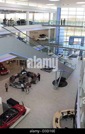 Mercedes Benz World, Brooklands, near Weybridge, Surrey, England, UK. - Stock Photo