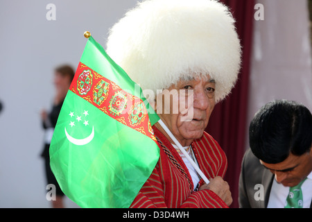 Paris, France, the man from Chechnya in national costume - Stock Photo
